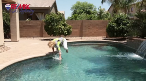 REALTOR Falls In Pool